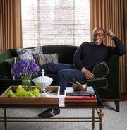 Corey Damen Jenkins of Corey Damen Jenkins & Associates said his living room in his Bloomfield Hills townhouse is one of his favorite spots.