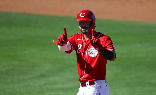 Nick Castellanos is in his first season with the Cincinnati Reds.
