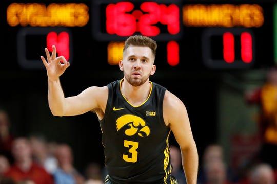 Guard Jordan Bohannon will return to Iowa next season.