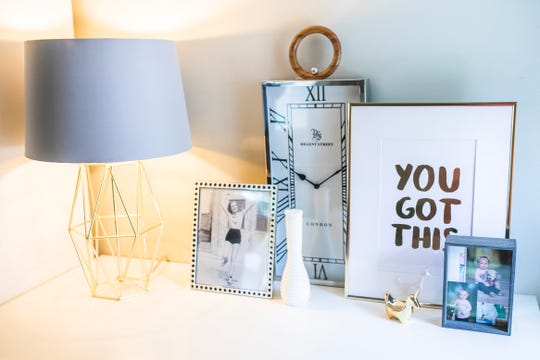"""A """"You Got This"""" art print in Rachel Nelson's Grosse Pointe home office is perfect during these uncertain times."""