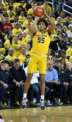 Michigan guard Eli Brooks averaged 10.6 points in 30 games (all starts) last season.