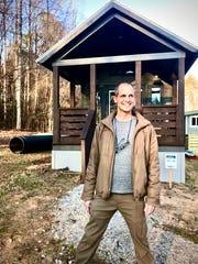 Justin Draplin, owner and developer of the Creek Walk tiny home community near Travelers Rest, South Carolina