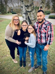 Katelyn Jimenez. left, was denied a CARES Act stimulus payment because she and her husband Samuel filed their tax return in January with his Individual Taxpayer Identification Number. He got a Social Security number in March.