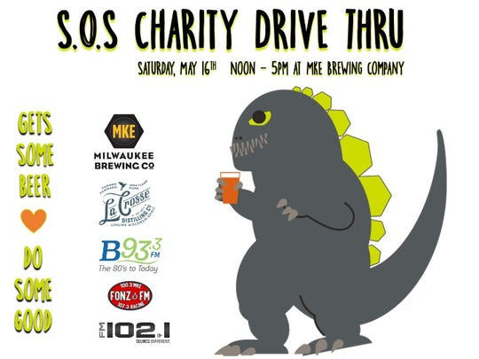 A drive-thru selling beer and cookies will help raise funds for local restaurants.