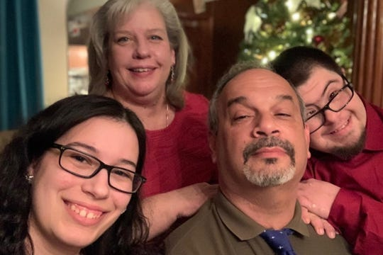 Carolyn Martins-Reitz, top, died of the coronavirus on March 28, 2020. Her son, Thomas, right, also fell victim to the coronavirus nine days later, on his 30th birthday.