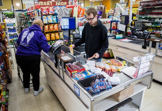 Customers browse Minars Market in Albany. Since the start of the pandemic owner Johnny Singh said the store has tripled business - largely as a result of panic buying.
