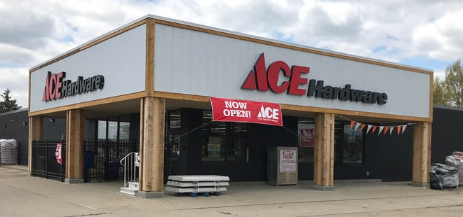 Ace Hardware, in Heath, showed off the sign of the times as retail stores were permitted to reopen on Tuesday.