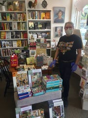 While making a go of it the past two-months with online sales and curbside service, Readers' Garden Bookshop owner Kim Ball said in addition to books, jigsaw puzzles have been big sellers.