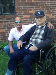 Frank Baez, of Hackensack, with his foster father, Dominick Brancaccio.