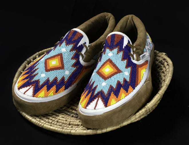 Truett Shafer put a Native American spin on these pair of Vans for the local flavor category