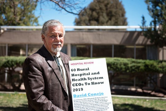 """Rehoboth McKinley Christian Health Care Services CEO David Conejo is honored by BeckerÕs Hospital Review as a """"Rural Hospital and Health System CEOs to Know in 2019,"""" photographed at Rehoboth McKinley Christian Health's east campus, Friday, April 19."""