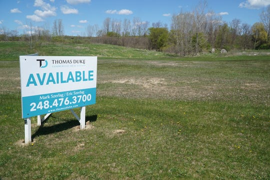 This Lyon Crossing land is slated for development.