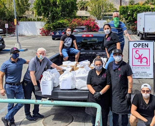 Eight4Nine staff, including Albert Gonzalez, Willie Rhine, Ricardo Nava, Elena Vargas, Sandi Rosario, Israel Jiminez, John Paschal and  Isaad Corona have delivered more than 1,400 lunches since the inaugural Good Deed Friday.