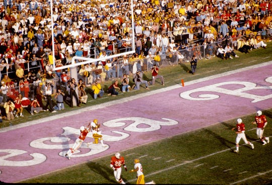 Arizona State University Among the most memorable Fiesta Bowls: Arizona State vs. favored Nebraska on Dec. 26, 1975, at Sun Devil Stadium in Tempe. It was a coming-out party on the national stage for ASU, which won in dramatic fashion, 17-14, capping a 12-0 season and No. 2 national ranking under coach Frank Kush. The Fiesta Bowl was created for ASU, which often was snubbed by other bowls. Arizona State and Nebraska played in the Fiesta Bowl on Dec. 26, 1975, at Sun Devil Stadium. ASU won the game 17-14, capping an undefeated season (12-0) under head coach Frank Kush. The Sun Devils finished No. 2 in the final rankings.