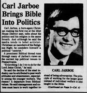 An early article about Carl Jarboe in the Lebanon Daily News.