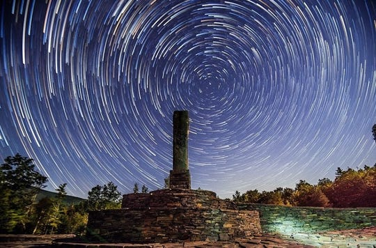 Time lapse at Opus 40