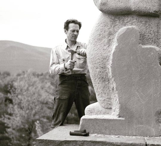 Harvey Fite, one of the founders of the Bard College Fine Arts Department, spent nearly 40 years creating and shaping by hand Opus 40, using nothing but bluestone harvested on site.