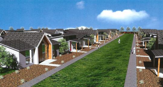 Creek 27 housing development rendering.