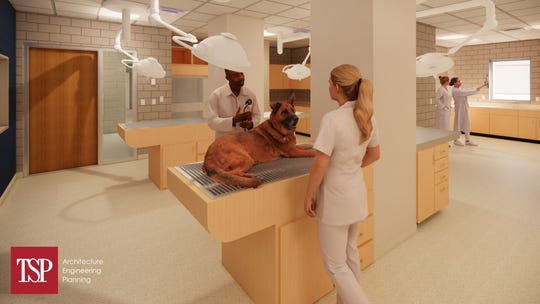 Renderings of the new vet tech addition planned for Southeast Tech's northwest Sioux Falls campus.