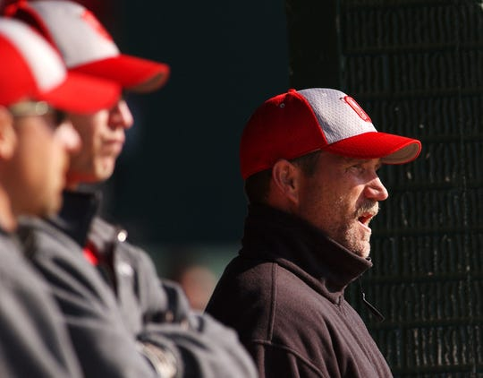 Ozark's coach Mike Essick instructs his players during a game in 2008.