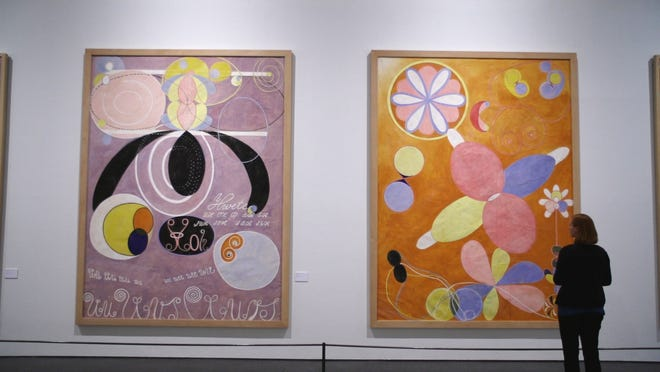"A scene from ""Beyond the Visible, Hilma af Klint"" a film by Halina Dyrschka."