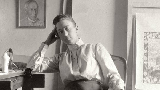 """A scene from """"Beyond the Visible - Hilma af Klint,"""" directed by Halina Dyrschka."""