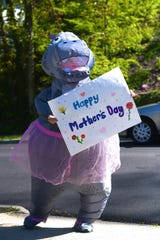 A hippo in a tutu wishes people in Pleasantville a happy Mother's Day.