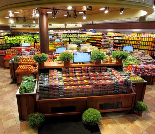The produce section at the DeCicco & Son's store in Pelham.