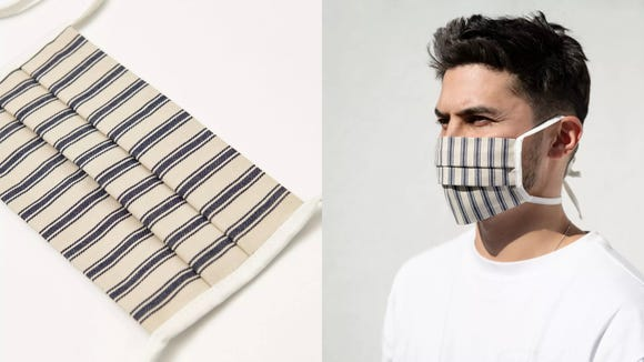 These cotton masks are made of leftover materials.