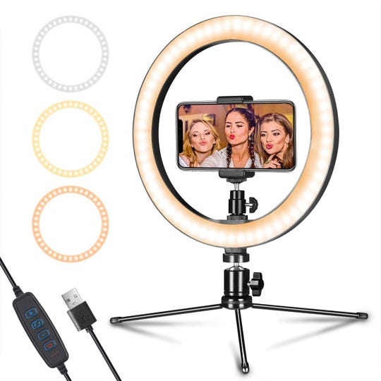 This Ring light from Aixpi sells for $50