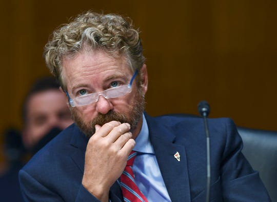 Sen. Rand Paul, R-Ky., listens to testimony before a Senate committee hearing on May 12, 2020, in Washington, D.C.