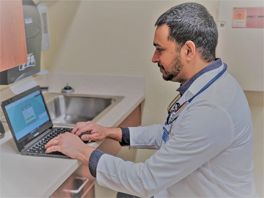 Ascension health care providers conduct virtual visits.
