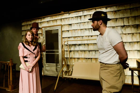 "Jessica Nogaret, Sean Walsh and Nick Ponterio starred in  ""27 Wagons Full of Cotton"" at KNOW Theatre in 2018."