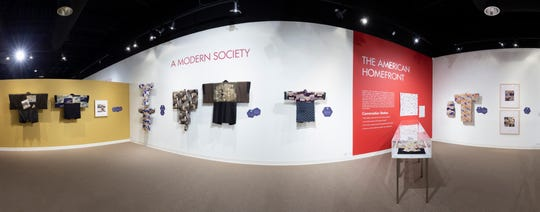 Virtual tours of Florida Tech's Funk Center for Textile Arts give viewers the opportunity to experience exhibits like these Japanese propaganda kimonos.