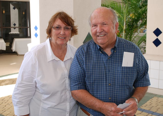 Ed Harrison and his wife, Jacqueline, in a 2014 benefit concert at Holy Name of Jesus Catholic Church in Indialantic. BRIAN CURL/FOR FLORIDA TODAY ( Other )