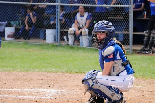 Lauryn Tadda balanced softball and track in the spring for the Lady Bulldogs.
