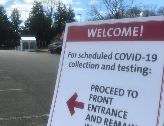 A COVID-19 test site in Cherry Hill