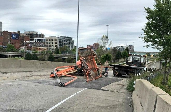 A crash on eastbound Sixth Street to Fort Washington Way has closed the road until further notice.