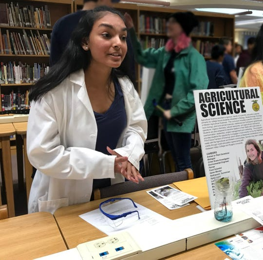 SCVTHS Agricultural Science sophomore Parthavi Patel of South Bound Brook, who placed first in the Food Products & Processing Systems division at the 2020 New Jersey FFA Agriscience Fair.