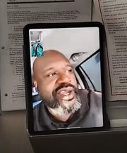 Shaquille O'Neal FaceTimed hospital staff for about two minutes after Brianna Vasquez messaged the basketball star on Instagram.