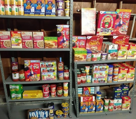 A sample of the non-perishable food donated to the Hands of Hope food pantry in Edison on Saturday.