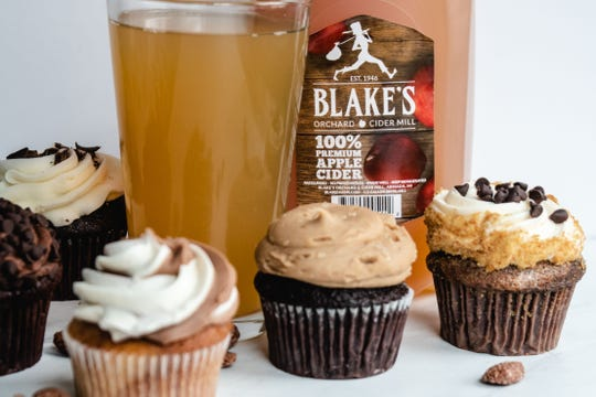 Cupcakes and Blake's apple cider from Bakehouse46 in Birmingham.