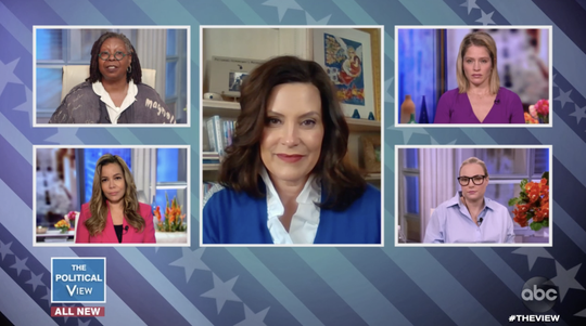"""Gov. Gretchen Whitmer appeared on """"The View"""" on May 13, 2020."""