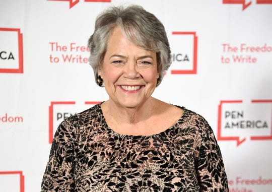 FILE - This May 22, 2018 file photo shows Simon & Schuster president Carolyn Reidy at the 2018 PEN Literary Gala in New York. Reidy died of a heart attack on Tuesday morning, May 12, 2020. She was 71. Her death was announced by company executive Dennis Eulau.