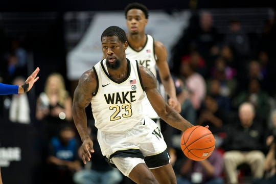 Chaundee Brown (23) had five 20-point games for Wake Forest last season.