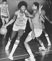 """Earvin """"Magic"""" Johnson had led Lansing Everett to the Class A state championship in 1977."""