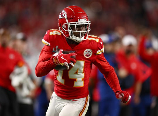 Former Clemson star receiver Sammy Watkins (14)  is one of three ex-Tigers on the roster of the Kansas City Chiefs, who host Carolina on Nov. 8.
