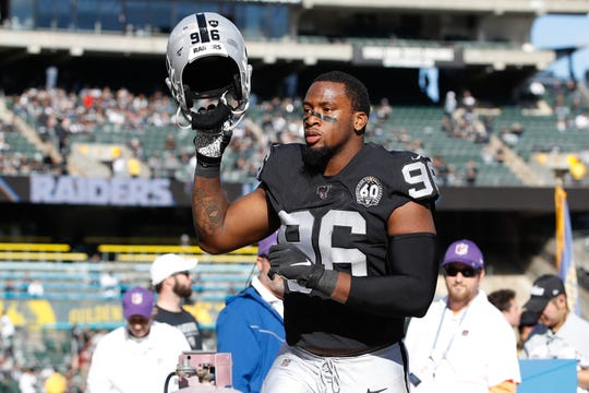 Former Clemson star Clelin Ferrell (96)  and the Las Vegas Raiders open the 2020 season against the Carolina Panthers in Charlotte.