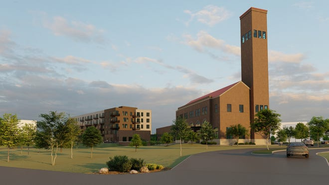 Big Sky Select Properties, LLC is proposing a five-story, 77-foot tall apartment complex and a commercial building featuring restaurants with a rooftop dining and a wine bar on vacant land it owns just north of the historic Milwaukee Station overlooking the Missouri River.