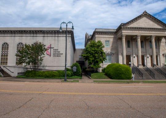 First United Methodist Church in Jackson, Tenn., Wednesday May 13, 2020
